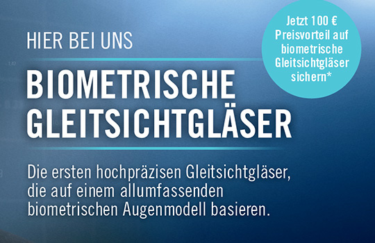 Biometrische Gleitsichtgläser